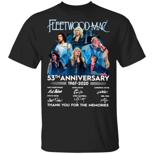 Fleetwood Mac 53th Anniversary 1967 2020 Thank You For The Memories Signatures Shirt
