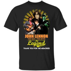 John Lennon The Man The Myth The Legend Thank You For The Memories Shirt