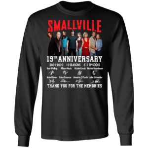Smallville 19th Anniversary 2001 2020 10 Seasons 217 Episodes Thank You For The Memories Signatures Shirt