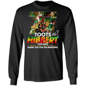Official 77 Toots Hibbert 1942 2020 Toots And The Maytals Thank You For The Memories Signature Shirt