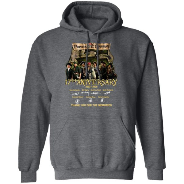 Pirates Of The Caribbean 17th Anniversary 2003 2020 Thank You For The Memories Signatures Shirt