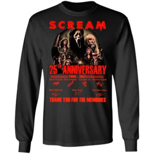 Scream 25th Anniversary 1996 2021 Thank You For The Memories Signatures Shirt