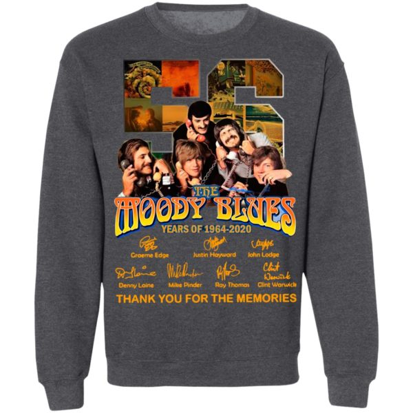 The Moody Blues 56 Years Of 1964 2020 Thank You For The Memories Signatures Shirt