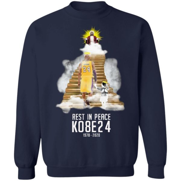Kobe Bryant And His Daughter In Heaven With Jesus Shirt