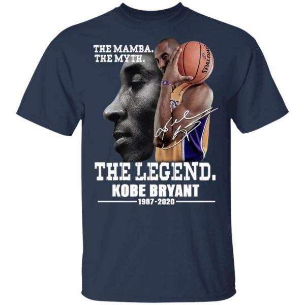 The Mamba The Myth The Legend Kobe Bryant 1987 2020 signature Shirt