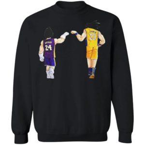 Vegeta Kobe Bryant and Goku Lebron James Shirt