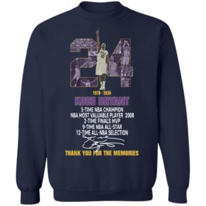 Kobe Bryant title collection thank you for the memories Shirt