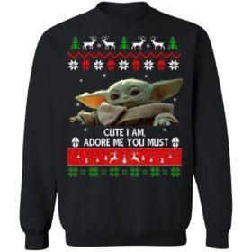 Baby Yoda Christmas ugly sweater