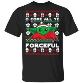 O Come All Ye Forceful Baby Yoda Ugly Christmas sweater