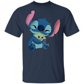 Official Baby Stitch Hug Baby Yoda Shirt