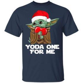 Santa Baby Yoda One For Me Hug Heart Christmas Shirt
