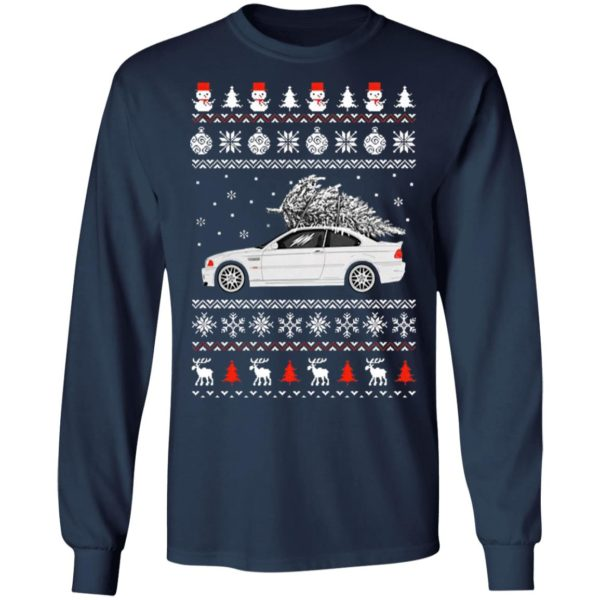 Convertible BMW M3 Ugly Merry Christmas Tree Sweater