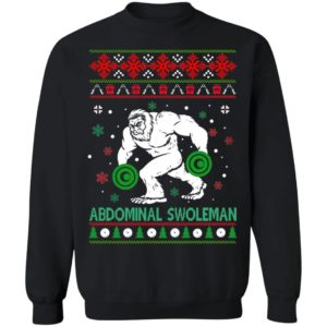 Abdominal Swoleman Bigfoot Gym Ugly Christmas sweater