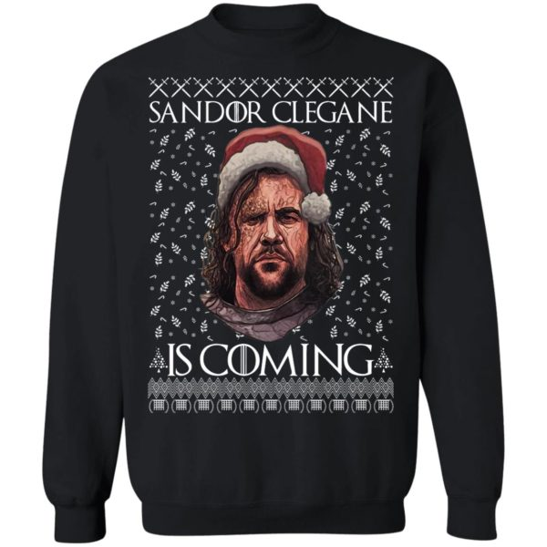 THE HOUND Game of Thrones Sandor Clegane Is Coming Ugly Christmas Sweater