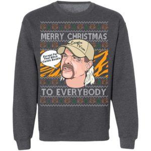 Joe Exotic Big Cat Rescue Carole Baskin SH300 Tiger King Merry Christmas Ugly Christmas Sweater