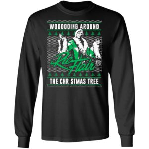 Woooooing Around The Christmas Tree Ugly Faux Knit Ric Flair Sweater