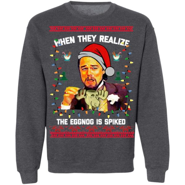 When They Realize The Eggong Is Spiked Leo Laughing Dank Meme Ugly Merry Christmas Sweater