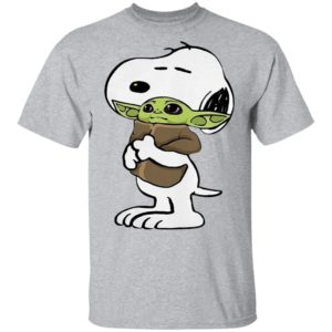 Snoopy Hug Baby Yoda Shirt, Long Sleeve, Hoodie