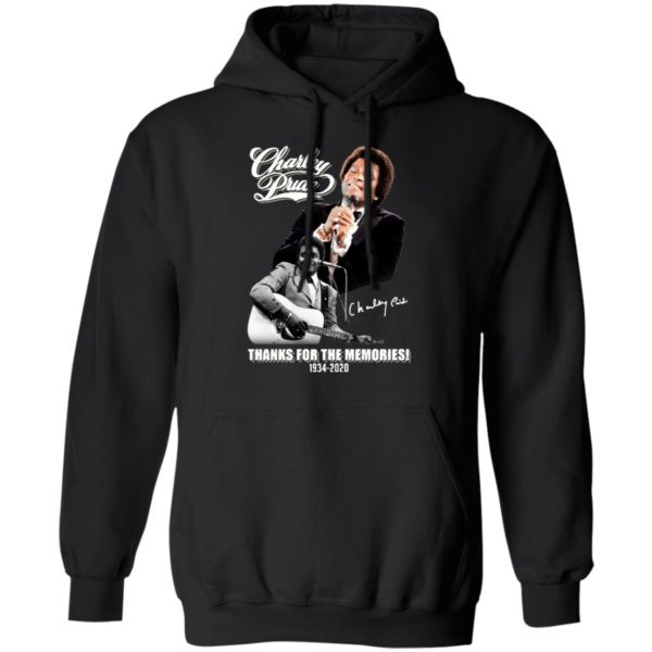 Charley Pride signature thanks for the memories 1934 2020 shirt