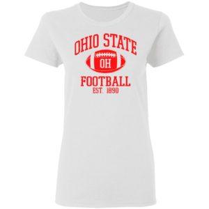 Vintage State of Ohio Columbus Striped Varsity Style shirt