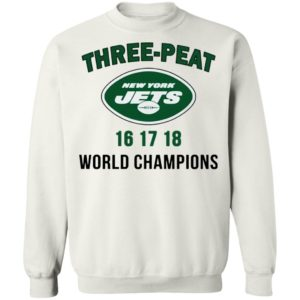 Three Peat New York Jets world Champions shirt