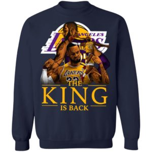 Awesome Los Angeles Lakers Lebron James The King Is Back Shirt
