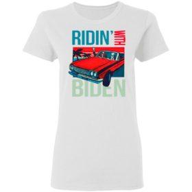 Riding With Biden Kamala Harris Joe Biden Vintage Retro Car Shirt