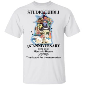 Studio Ghibli 36th Anniversary 1985 2021 Miyazaki Haya Shirt
