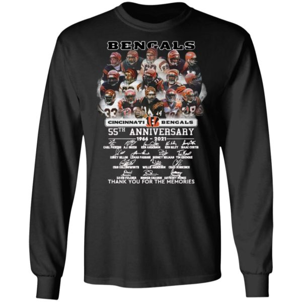 Cincinnati Bengals 55th anniversary thank you for the memories shirt