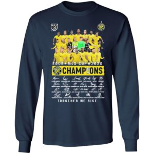 2008 MLS Cup 2020 Champions To96ther we rise signatures shirt