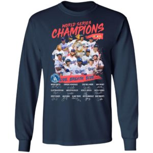 Los Angeles Dodgers Live Breathe Blue Signatures World Series Champions Shirt