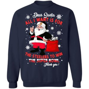 Dear Santa all I want is for the Chiefs to win the super bowl thank you Christmas shirt