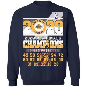 Los Angeles Lakers 2020 Nba Finals Champions 49 50 52 53 54 Shirt