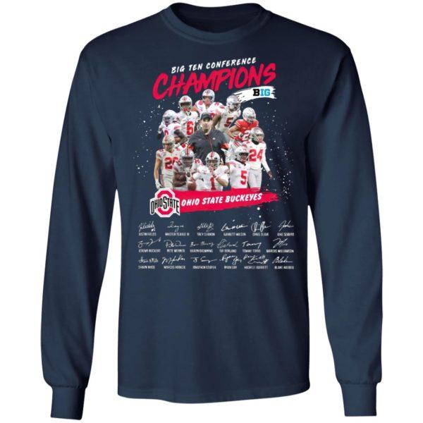 Big Ten Conference Champions Big Ohio State Buckeyes Signatures Shirt