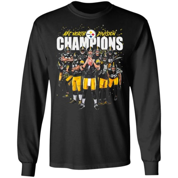 Afc North Division Champions Signatures Pittsburgh Steelers Team Football Shirt