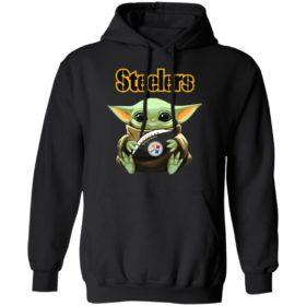 Baby Yoda Hug Steelers Symbol Shirt