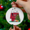 Tampa Bay Buccaneers Snoopy Christmas Circle Ornament
