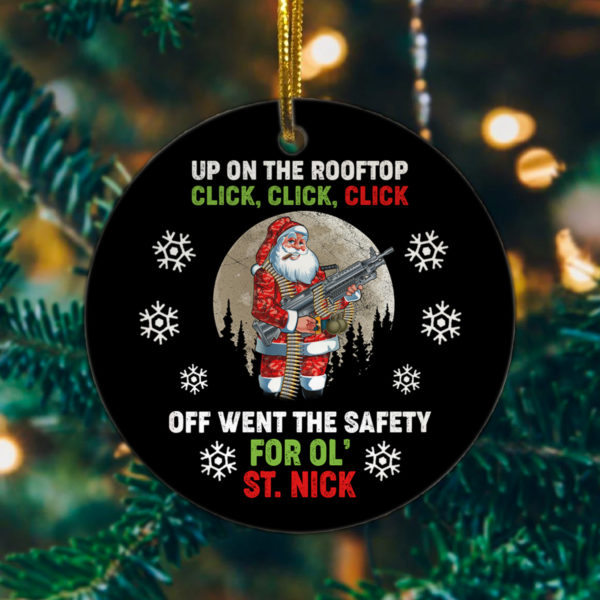 Up On The Rooftop Click Off Went The Safety Christmas Tree Decoration Ornament