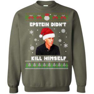 Epstein Didnt Kill Himself Ugly Christmas Sweater, Long Sleeve
