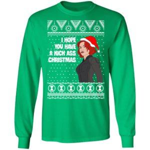 Black Widow I Hope You Have a Kick Ass Christmas Avengers Ugly Christmas Sweater