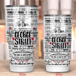 George Strait The Chair Tumbler 20oz 30oz