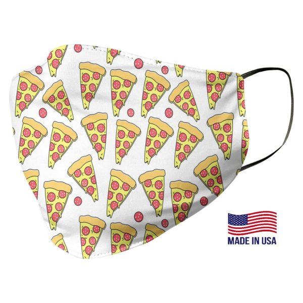 Pizza Print Pattern Face Mask