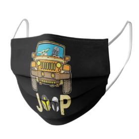 Baby Yoda drive jeep face mask