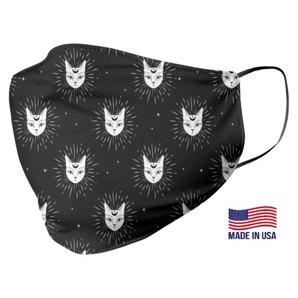 Black Cat Pattern Face Mask