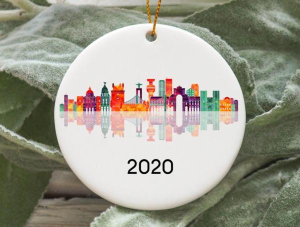 Lisbon City 2020 Christmas Tree Ornament