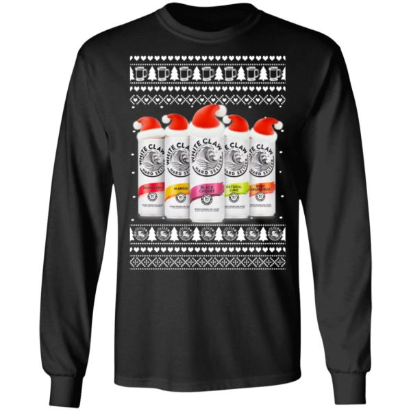 Five Flavors White Claw Hard Seltzer Ugly Christmas Sweater