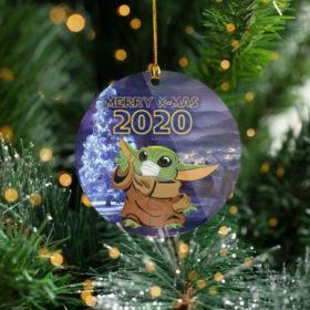 Santa Baby Yoda Merry X-Mas 2020 Tree Decoration Christmas Ornament
