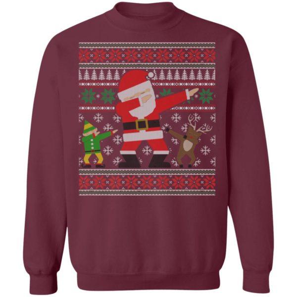 Elf Reindeer Dabbing Santa Ugly Christmas Sweater