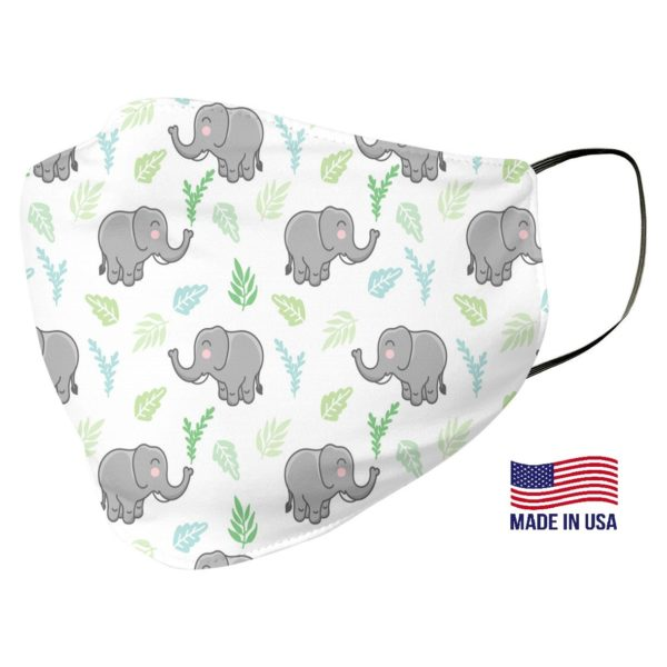 Cute Elephant Pattern Face Mask