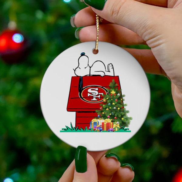 San Francisco Snoopy Christmas Circle Ornament